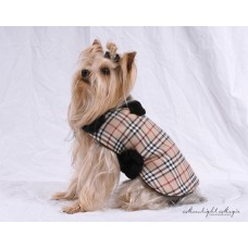 British Plaid Dog Coat