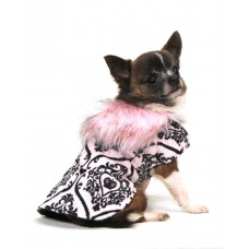 Pink Crown Dog Coat