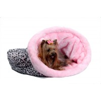 Snuggle Bed Pink Leopard